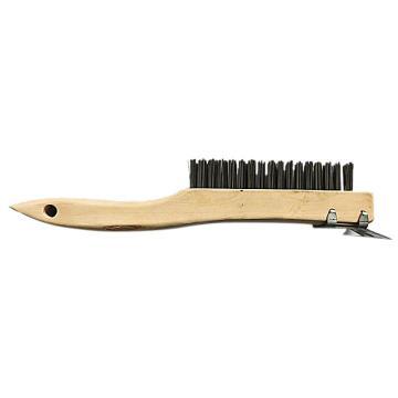 库兰4行木柄刷,带刮刀,12个/盒