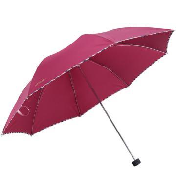 天堂伞,307E 晴雨伞藏青折叠加大雨伞拒水一甩干商务伞 57cm*8k 酱红