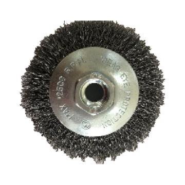 库兰碗形钢丝轮,100螺机用,钢丝/0.3mm丝径/外径100/M14/RPM8500,1个/盒
