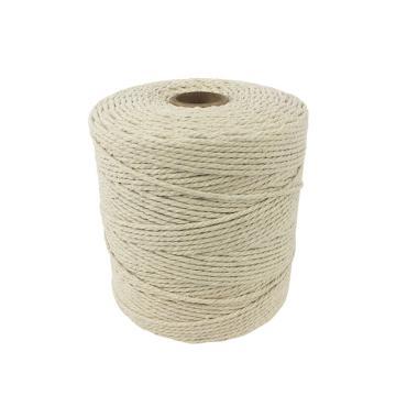 安赛瑞 棉线绳,本白色,φ2mm,约350g/卷(2个装)