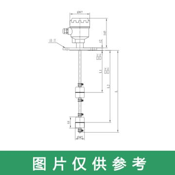 """上海思派 机组顶盖液位开关SLH-B-B-2-F-595,-10~125℃,SUS304,螺纹2""""PF,L1=310mm,L2=390mm"""