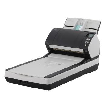 富士通 A4高速双面自动进纸带平板扫描仪,fi-7260