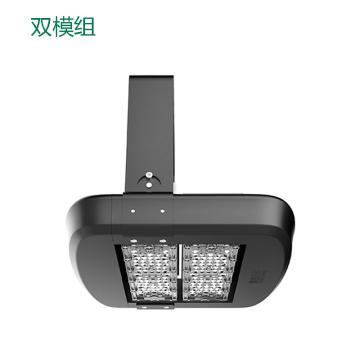 雅金照明 LED投光灯,YJ-FSA800S-80W,双模组投光灯,暖白,30°配光,含U型支架,单位:个