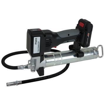 """MATO 3427603 电动黄油枪,18V锂电池,注脂油量100cc/min,带软管螺纹R1/8""""(替换3427702)"""