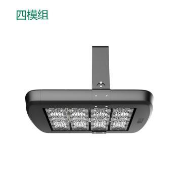 雅金照明 LED投光灯,YJ-FSA800S-200W,四模组投光灯,暖白,30°配光,含U型支架,单位:个
