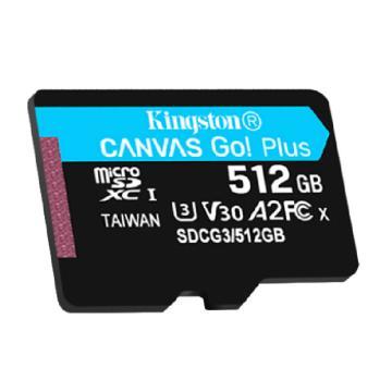 金士顿存储卡,SDG3 512GB U3 V30 A2 4K 极速版 TF(Micro SD)存储卡 读速 170MB/s 写速90MB/s