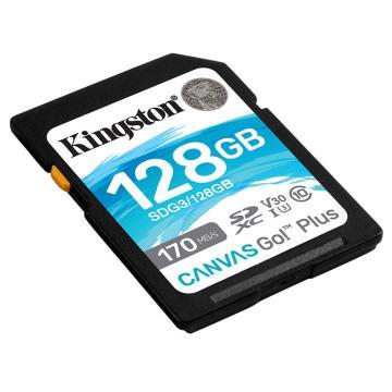 金士顿存储卡,SDG3 128GB U3 V30 SD卡 极速版 读速170MB/s 写速90MB/s 4K超高清视频 终身保固