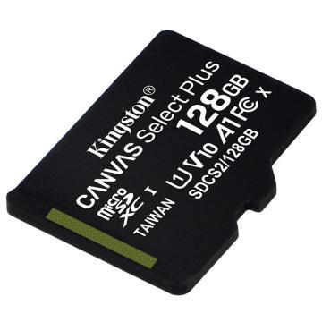金士顿存储卡,SDCS2 128GB 读速100MB/s U1 A1 V10 TF(MicroSD)存储卡 高品质拍摄