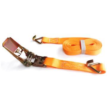 安赛瑞 货物捆绑带,优质涤纶+45#钢,2.5CM×5M,载重800kg,橘色