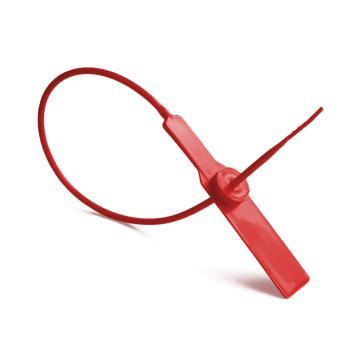 安赛瑞 塑料封条(100根装)一次性塑料铅封,红色,全长28cm