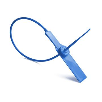 安赛瑞 塑料封条(100根装)一次性塑料铅封,蓝色,全长28cm