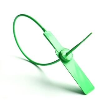 安赛瑞 塑料封条(100根装)一次性塑料铅封,绿色,全长28cm
