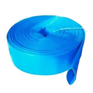 泉友 蓝色涂塑水带,DN40(1.5寸)A级,内径(圆口直径)38mm,扁径(平铺宽度)60mm