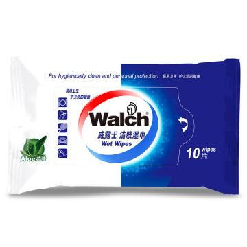 威露士 洁肤湿巾,芦荟10片装 单位:包