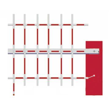 锦安行 三栏八角杆红白,3米,JCH-DZG-3-RW