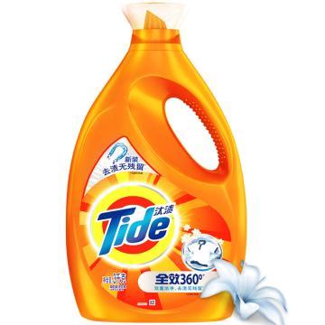 汰渍 洗衣液,全效360度 洁雅百合香型 3kg 单位:瓶