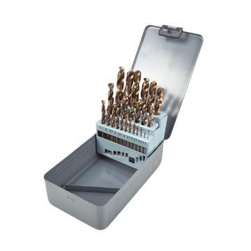 力易得 直柄高速钢含Co麻花钻套装,1-13mm,25件套,E0403