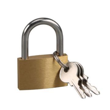 罕码 薄型纯铜短梁挂锁(同花),锁体宽20mm,HMKL345TF,5把/包
