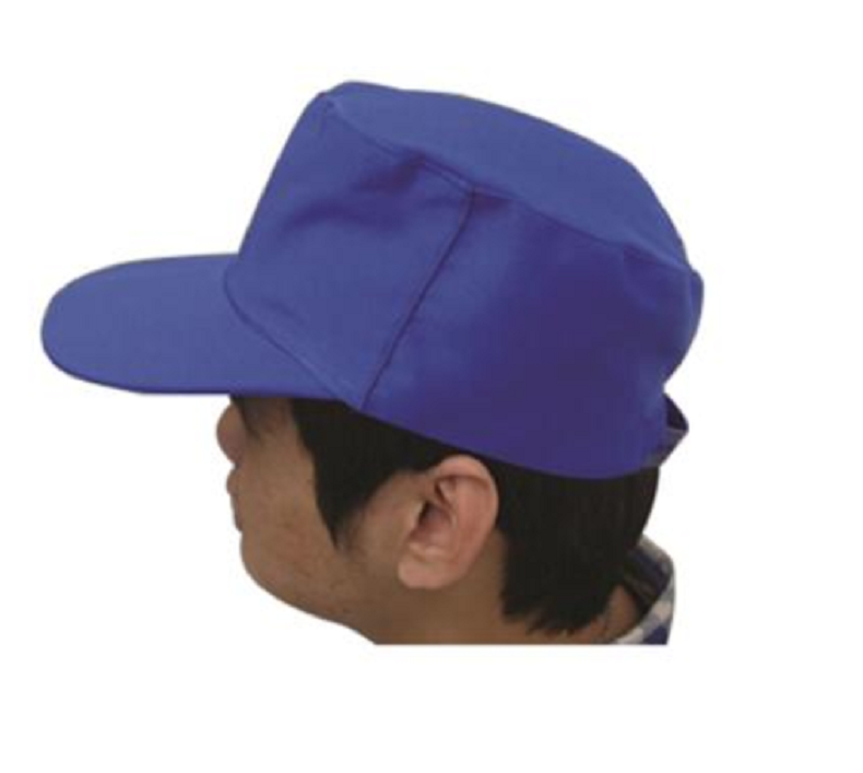 安防 工作帽,65/35,大众蓝 全棉春秋工作帽
