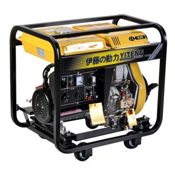 伊藤动力 柴油发电机,5KW三相,YT6800E3