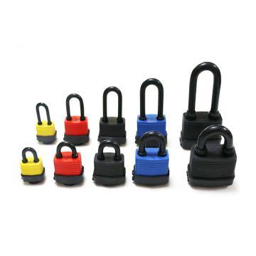 罕码 户外防水短梁千层锁(同花),锁体宽50mm,黄色,HMKL331TF,5把/包