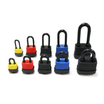 罕码 户外防水长梁千层锁(同花),锁体宽50mm,红色,HMKL340TF,5把/包
