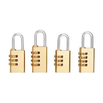 罕码 黄铜密码锁(同花),锁体宽28mm,高42mm,HMKL372TF,5把/包