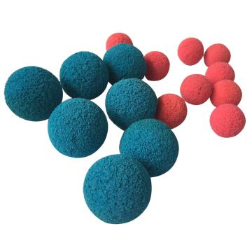 环球橡塑 剥皮镶砂胶球海水专用,Φ10