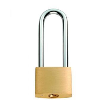罕码 中厚型纯铜长梁挂锁(同花),锁体宽30mm,HMKL357TF,5把/包