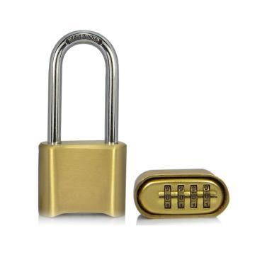罕码 黄铜密码长梁锁(同花),锁体宽50mm,高40mm,HMKL376TF,5把/包