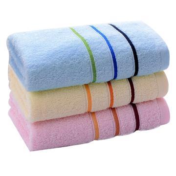 洁丽雅Grace纯棉强吸水舒适面巾毛巾,6443 74*33cm 85g,颜色随机