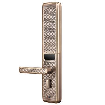 艾栖 指纹密码锁,柏林铜锁,古铜金,包含安装