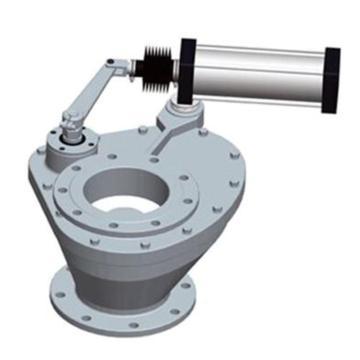 实达电力 耐磨合金旋转阀,SD/XZC-F DN300