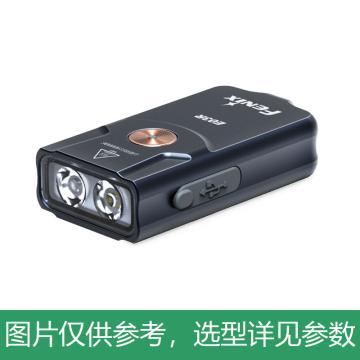 Fenix 全金属钥匙扣LED小手电,最高260lm,Type-c充电口,E03R,白红双光源,单位:个