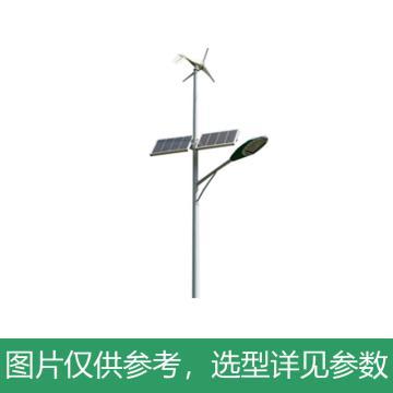 华朗 风光互补LED路灯,80W,60AH,12V,6000LM,中性光,HL-TYN013,高6M,含配件,单位:套