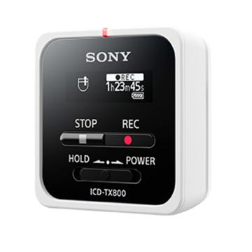 索尼录音笔,ICD-TX800 白色 微型迷你小随身便携式专业高清降噪 16g大容量手机蓝牙远程录音器机