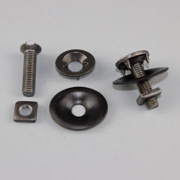 皮带螺栓M10*40 发黑 8.8级 含铁皮爪子 垫片 六角螺母