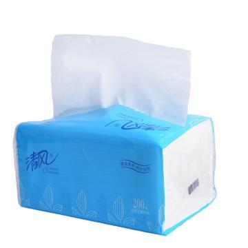 清风 抽取式面巾纸,200抽 BR8AA 64包/箱 单位:箱