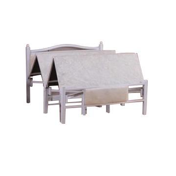 折叠床午休简易行军床,白色 1米宽 1.95米长(免安装)