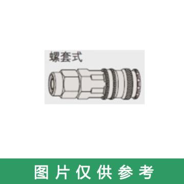 塔夫TAFFTOOL 气动快速接头 螺套式8*12mm 碳钢母头,3342413