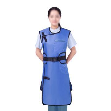 康仕盾 射线防护服,连体双面式无袖,0.50mmPb,蓝色,KSDA001B-S