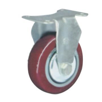 申牌 3.5寸聚氨酯中型脚轮 平底固定 载重(kg):115 轮宽(mm):32 全高(mm):120,20AB2-1015