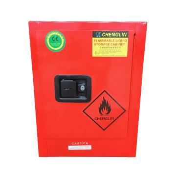 成霖 红色可燃液体安全柜,4加仑/15升,单门/手动,CL800401