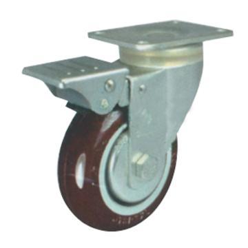 申牌 3.5寸尼龙中型脚轮,平底刹车 载重(kg):115 轮宽(mm):32 全高(mm):120,20A11-1109