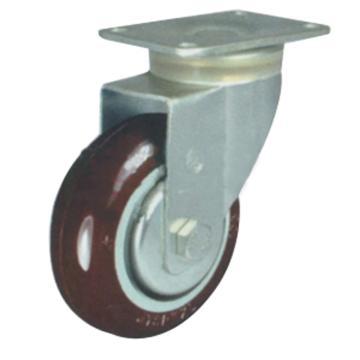 申牌 3.5寸尼龙中型脚轮,平底万向 载重(kg):115 轮宽(mm):32 全高(mm):120,20A10-1019