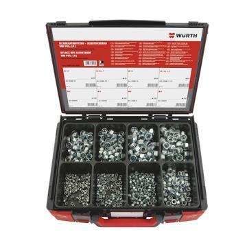 伍尔特WURTH,5964036800,六角头薄型尼龙锁紧螺母组套-DIN985-8-(A2K)-600P-SYS
