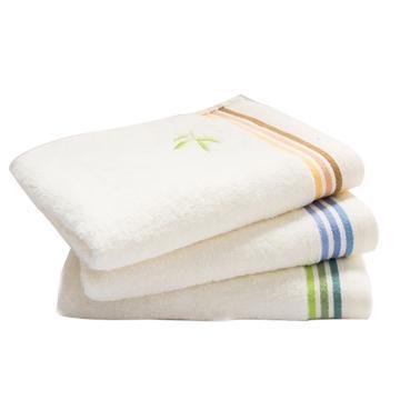 洁丽雅Grace竹纤维绣花面巾毛巾,6947A 76*34cm 110g 单条包装 颜色随机