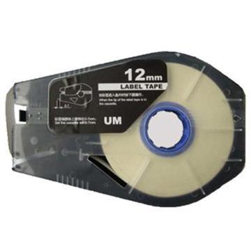 丽标 贴纸,TM-1112W 白色12mm长30m,适用丽标 线号机 单位:卷