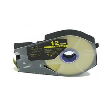 丽标 贴纸,TM-1112Y黄色12mm长30m,适用佳能线号机 单位:卷