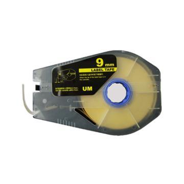 丽标 贴纸,TM-1109Y黄色9mm长30m,适用佳能线号机 单位:卷